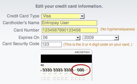 credit card numbers that work with security code and expiration date. Your card number is the long