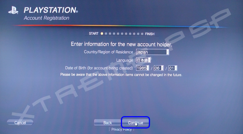 how to create a ps3 online account