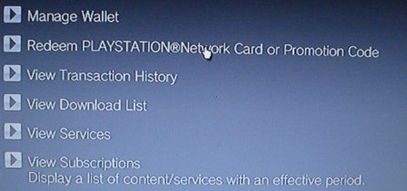 New PlayStation Network Card Option
