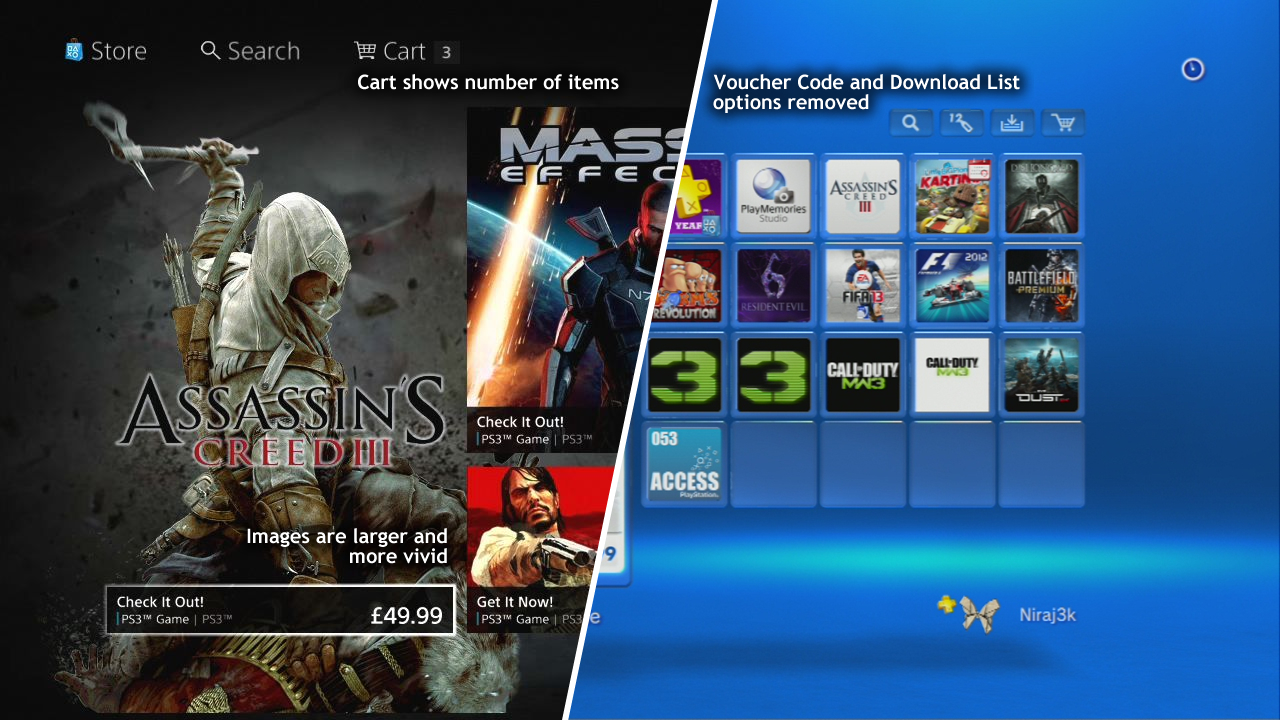 PlayStation Store Comparison – Old vs  New | XTREME PS3