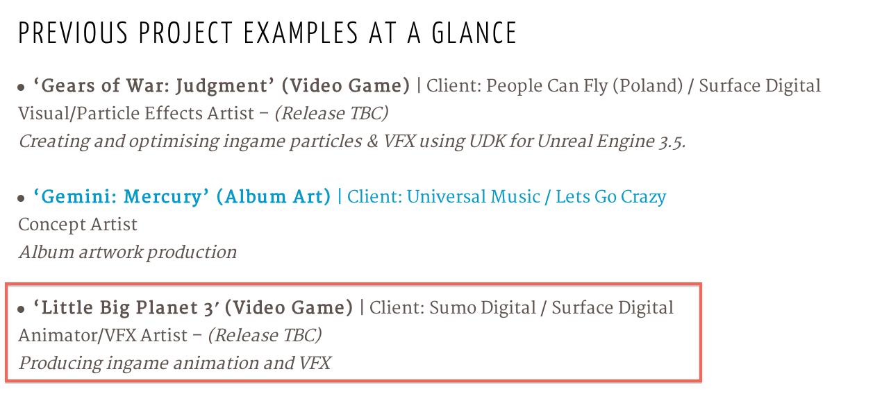 LittleBigPlanet 3 CV