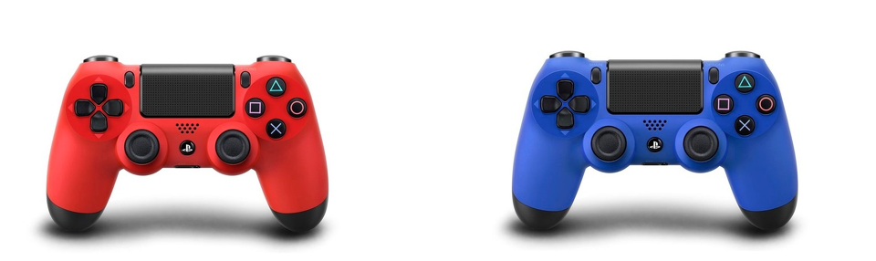 DualShock 4 Red and Blue