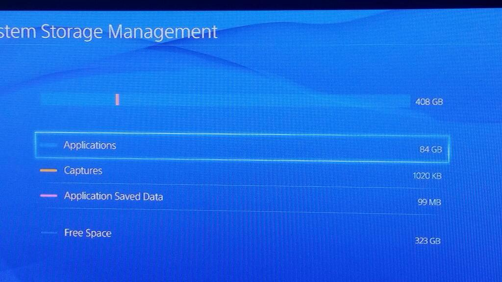 PS4 Storage