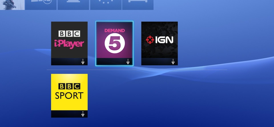 PS4 Video Services in UK