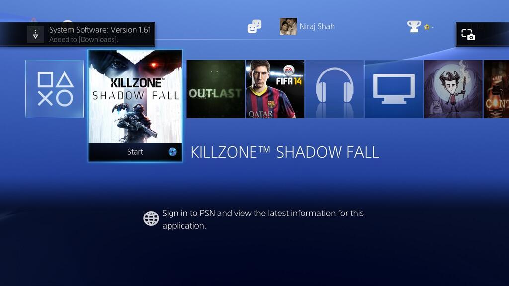 PS4 Firmware v1.61