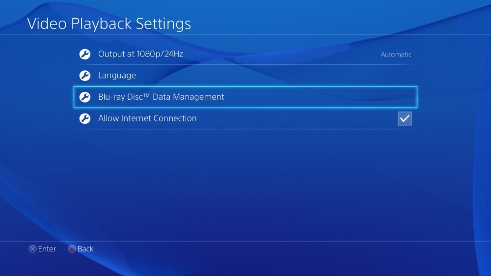 PS4 Firmware v1.70 - Blu-Ray Options