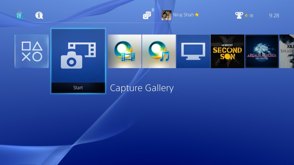 PS4 Firmware v1.70 - Capture Gallery Shortcut
