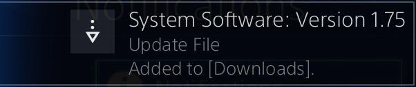 PS4 Firmware v1.75
