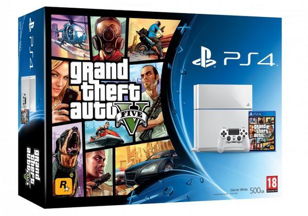 GTA V White PS4