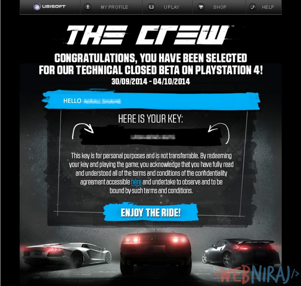 The Crew Closed Beta Invite
