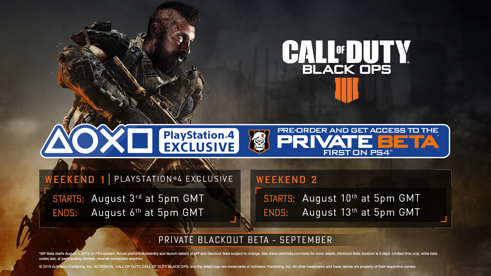 The Call Of Duty Black Ops 4 Beta Announced For Early August Xtreme Ps3