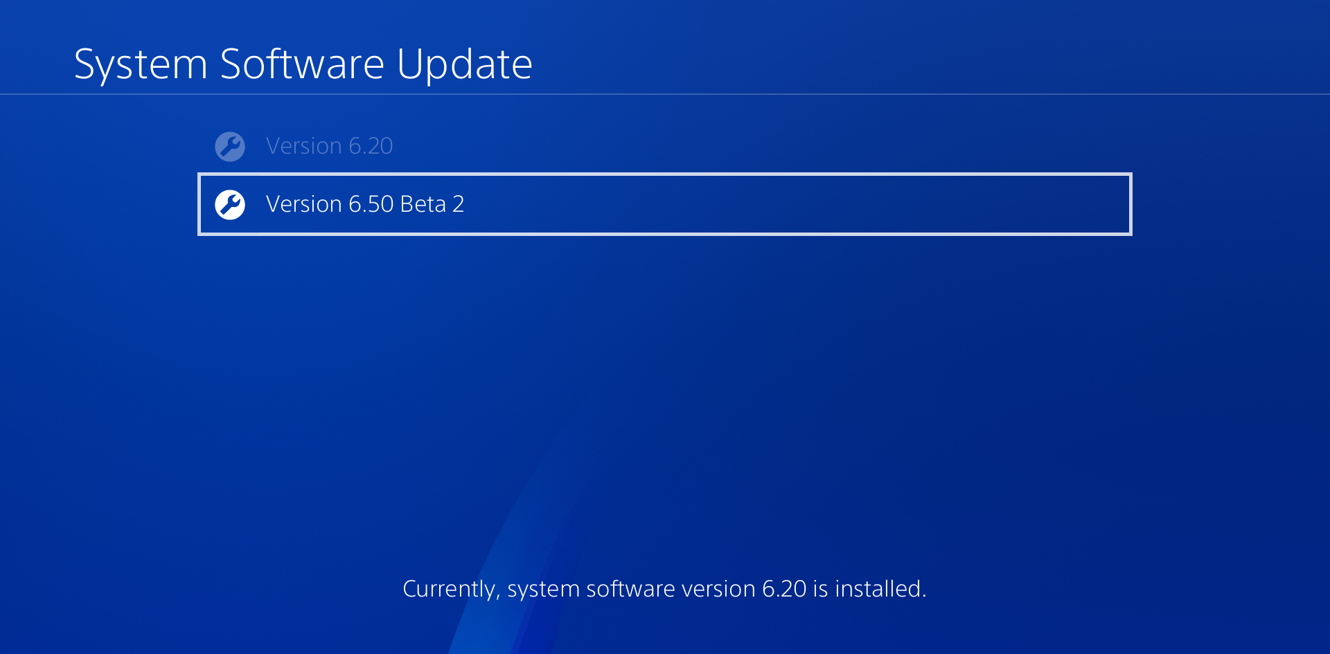PS4 Firmware 6.50 Beta 2
